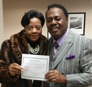 Baby and I with Marriage License smaller - Wow God is Awesome