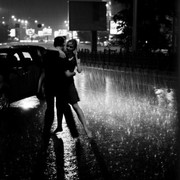 dancing in the rain couple