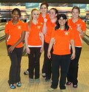 Park Girls bowling team. District team event. 1st place.