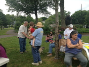 We had a nice neighbor turnout, despite a very overcast June day.