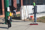 Columbus Family Academy Community Clean Up