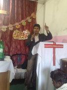 In Church give the Massege.
