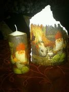χριστουγεννιατικα κεραμιδια και κερια