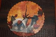 ρολόι με γατάκι-για το Χριστοδούλειο Ιδρυμα Χαιδαρίου