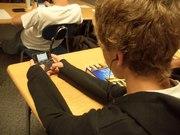 taking test on cellphones