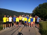 PARC Runners honoring Boston at Sawyer Camp