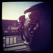 Forbidden City Beijing Closeup Copper Iron Cauldron