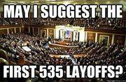 First layoffs should be Congress