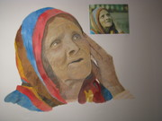 Old woman from Nepal