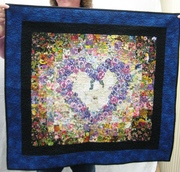 Heart applique wall hanging