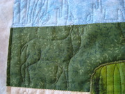 Desert wall hanging, custom quilting by Bonnie Sneed for Kaye H