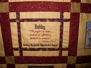 Memory Quilt of Bobby and Family