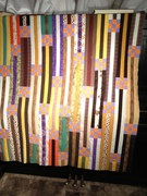 Really Crazy 9 Patch Strippy Quilt