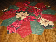 Christmas flowers table topper