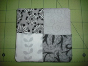 Fabric coasters I made for my son