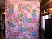Pink Girl's Quilt front