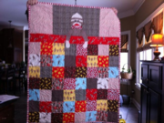 Front of Sock Monkey quilt