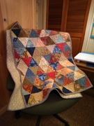 William Morris Triangle Quilt