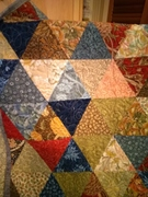 William Morris Triangle Quilt (detail)