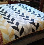 Herringbone Quilt in Bumble Bee Colors