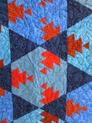 Hexagon Quilt in Copper Tones (detail)