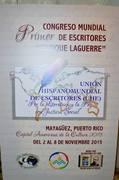 """Primer Congreso Mundial de  Escritores """"Enrique Laguerre"""""""