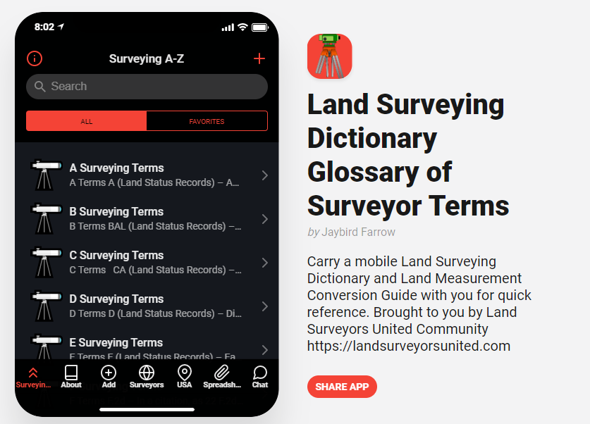 Surveyors Handbook Part 2 -Surveying Dictionary