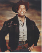Clint Walker Cheyenne Signed in Gold 8x10 Photo $75