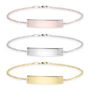 Curved Bar Initial Bracelet