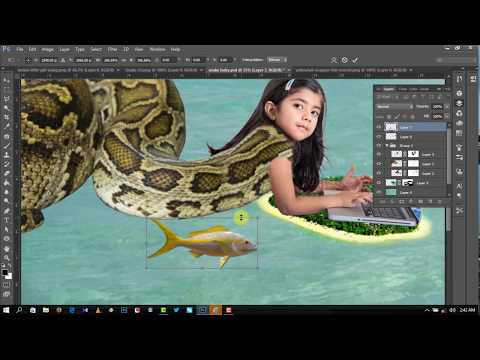 Realistic Photo Manipulation - Anaconda baby