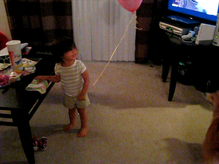 Addie and Ein Play With Balloon