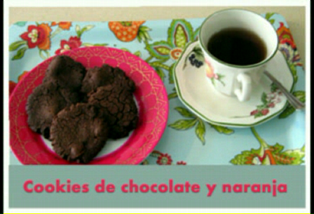 Cookies de Chocolate y naranja