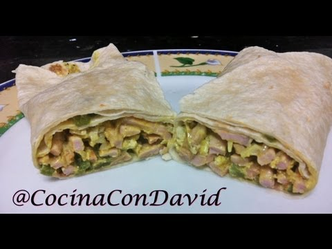 Burritos de lomo y verduritas al curry // Cocina con David