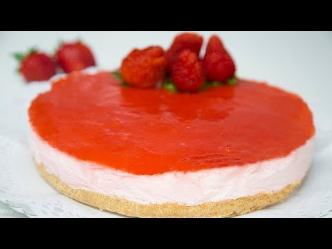 TARTA DE FRESAS MUY FÁCIL. Strawberry mousse cake. EASY RECIPE.