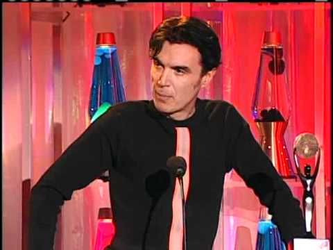 David Byrne inducts David Bowie Rock and Roll Hall of Fame 1996.mp4