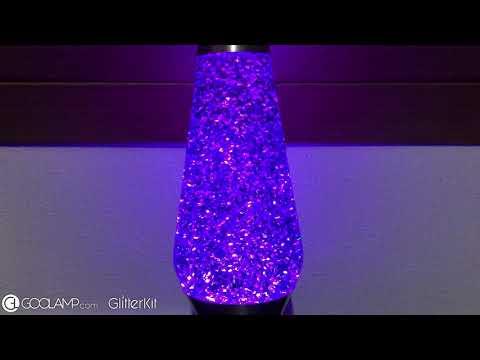 GOOLAMP GlitterKit Violet in Lavalite Grande Lavalamp