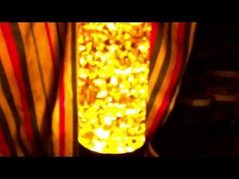 Custom Yellow Living Jewel in Jet Lamp