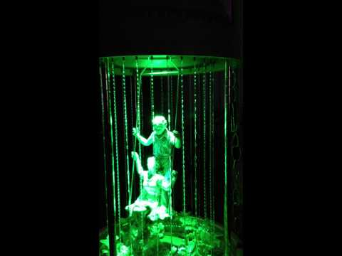 Oil Rain Lamp Swing with Remote Control LEDs.