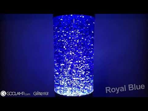 GOOLAMP Glitter Bottle Royal Blue for Mathmos Lunar Lavalamp