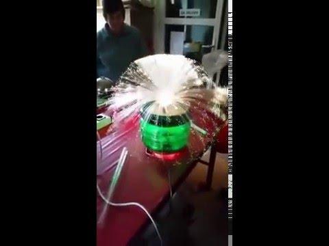 Fibre optic lamp spray with 14000 threads