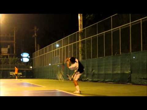 how to kick serve with a low toss