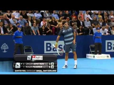 Federer vs Dimitrov ATP Basel 2013 QF HD Full Match