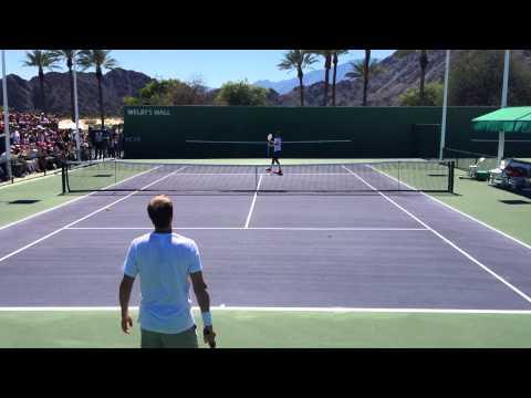 Roger Federer & Stefan Edberg, 2014 Indian Wells