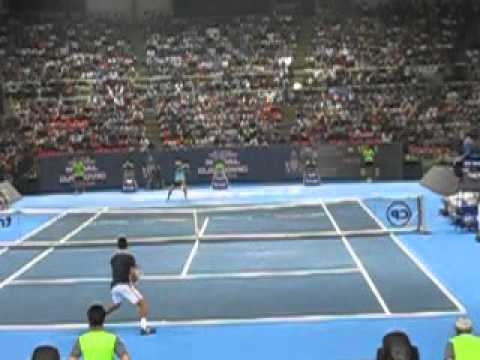 Super Slow Mo Nadal Returns and Moves After Impact--rally with Djokovic