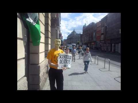 August 2013 Dublin Anti-Scientology protest