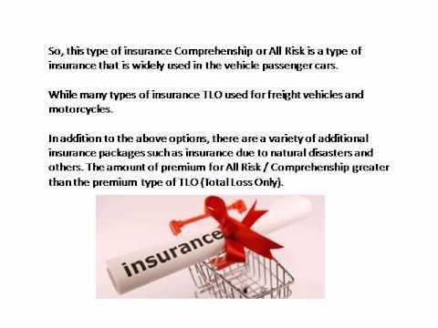 Types of Motor Vehicle Insurance