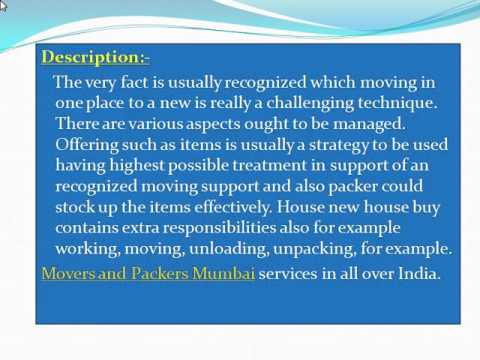 Movers and Packers Mumbai @ http://www.expert5th.in/packers-and-movers-mumbai/