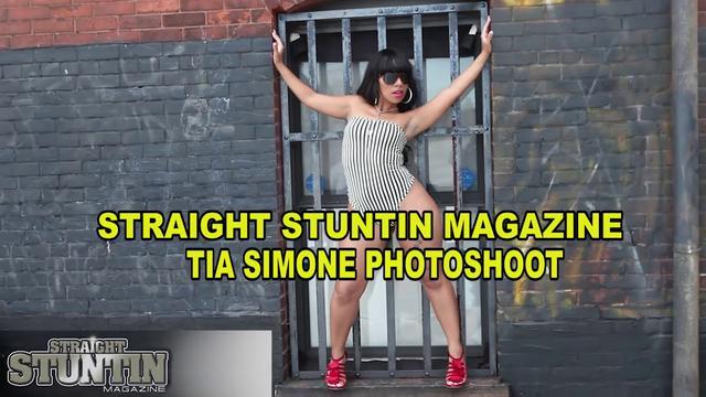 Model Tia Simone - Straight Stuntin Magazine Shoot