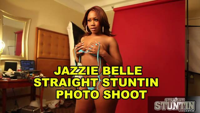 Jazzie Belle - Straight Stuntin Magazine Shoot