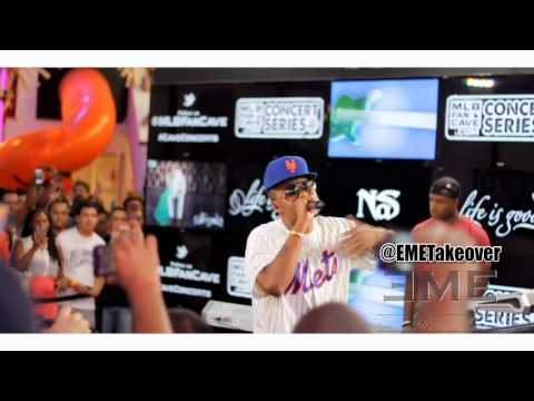 """Nas """"Life is Good"""" Album Release Performance at MLB Fan Cave 5-18-12 [EME]"""